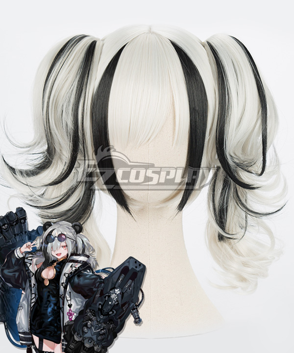 Arknights FEater Black Silver Cosplay Wig