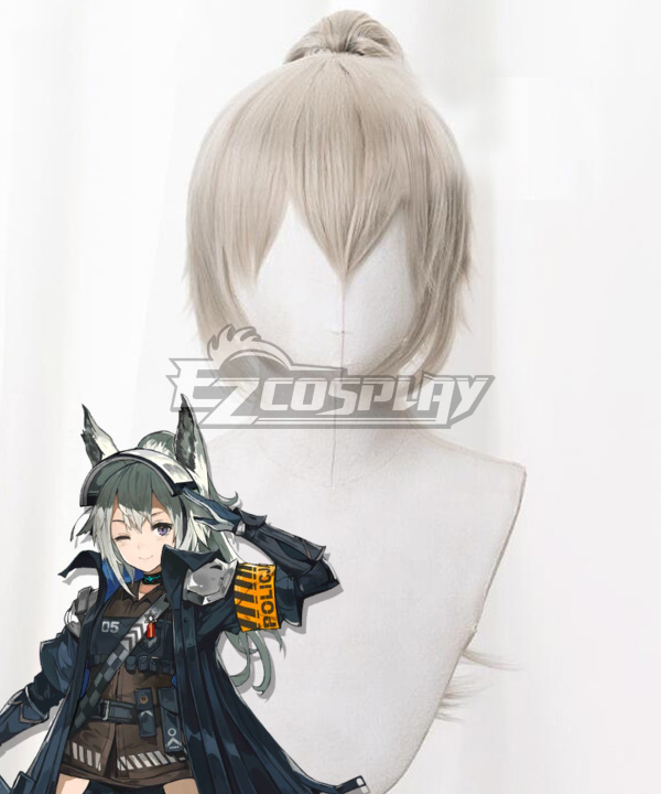 Arknights Grani White Cosplay Wig