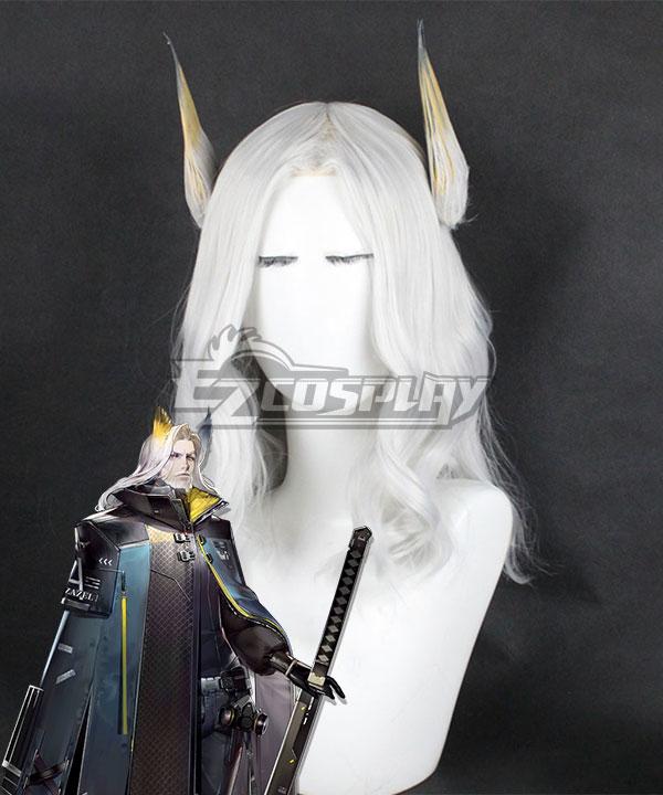 Arknights Hellagur White Cosplay Wig