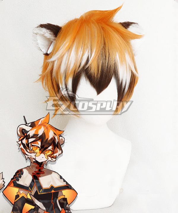 Arknights Waai Fu Orange Cosplay Wig