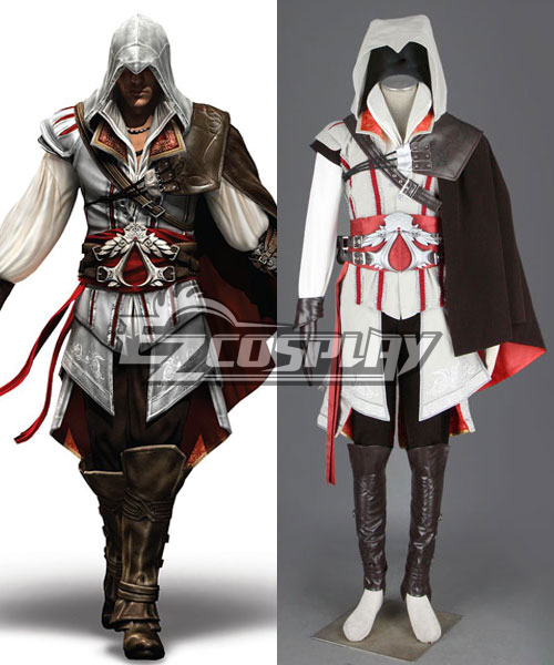 Assassin's Creed II Ezio Cosplay Costume - Deluxe Version