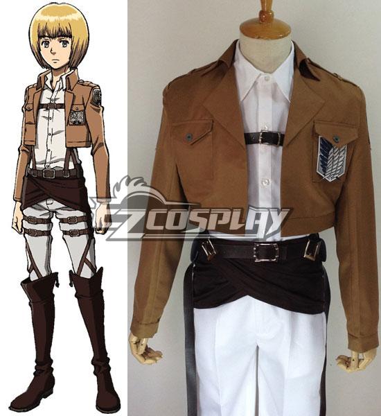 Attack on Titan Shingeki no Kyojin Armin Arlert Survey Corps Cosplay Costume