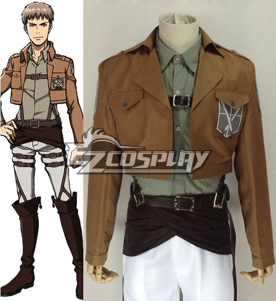 Attack on Titan Shingeki no Kyojin Jean Kirstein Jean Kirschtein Training Corps Cosplay Costume