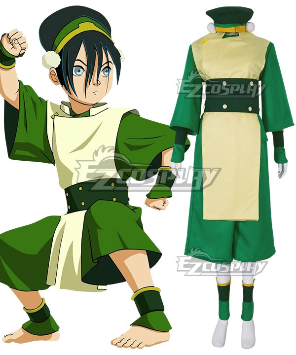 Hot! Avatar The Last Airbender Toph Beifong Red Cosplay Costume