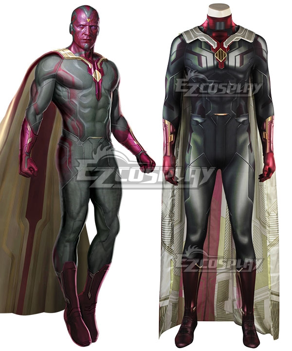Image of Marvel 2018 Avengers: Infinity War Vision Cosplay Costume