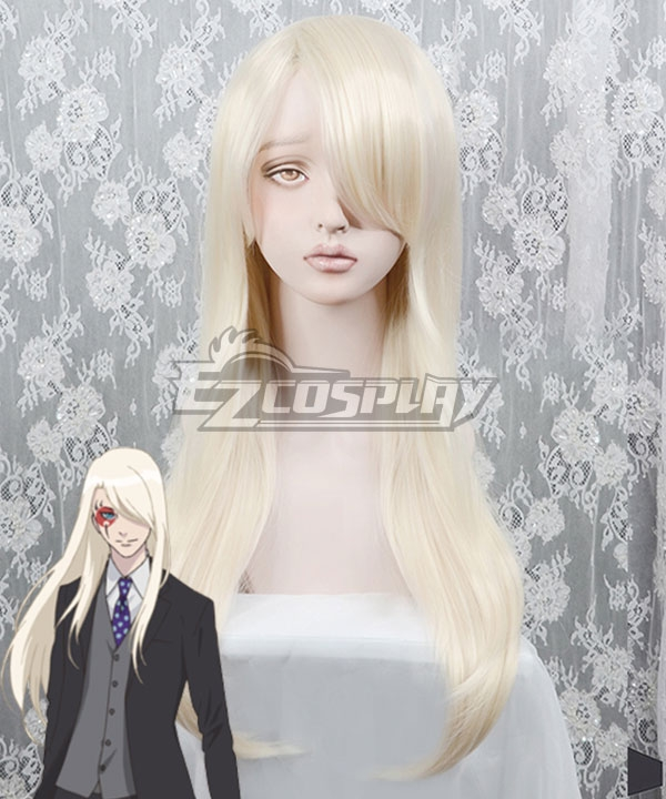 B: The Beginning Minatsuki Golden White Cosplay Wig