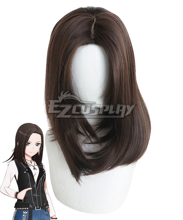 Bang Dream! RAISE A SUILEN Layer Wakana Rei Brown Cosplay Wig