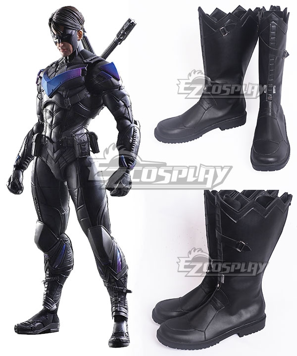 Batman: Arkham Knight Arkham Knight Black Shoes Cosplay Boots
