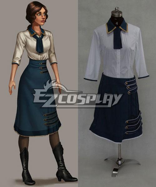 BioShock 3 Infinite Elizabeth Green Dress Cosplay Costume