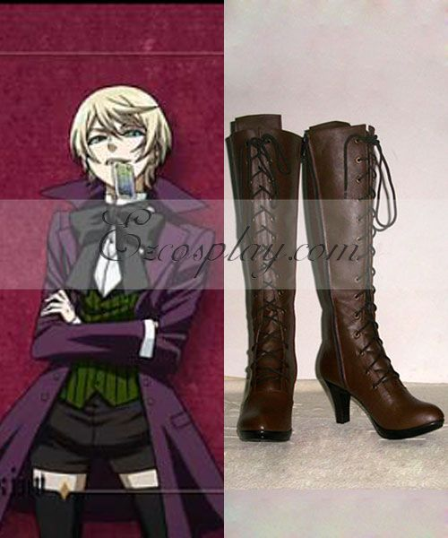 Black Butler¢òAlois Trancy Brown Shoes Cosplay Boots