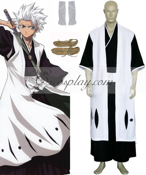 Bleach 10th Division Captain Hitsugaya Toushirou Cosplay Costume