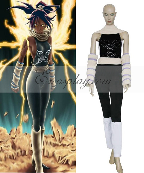Bleach Yoruichi Shihoin Fighting Cosplay Costume