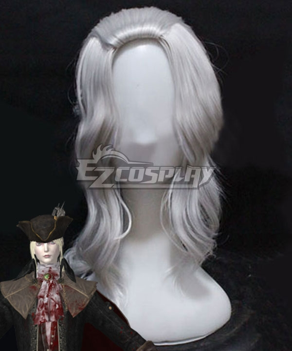 Bloodborne Lady Maria Of The Astral Clocktower Silver Cosplay Wig