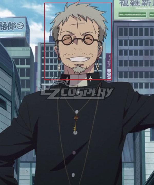 Blue Exorcist Ao No Exorcist Shirou Fujimoto Grey Cosplay Wig-Including Wig And Goatee Beard