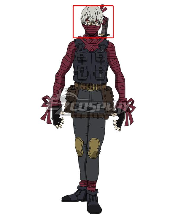 Boku no Hero Academia My Hero Academia: Heroes Rising Mummy Grey Cosplay Wig
