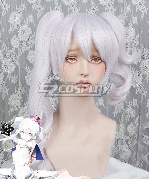 Caligula μ Mu Virtual Singer White Purple Cosplay Wig