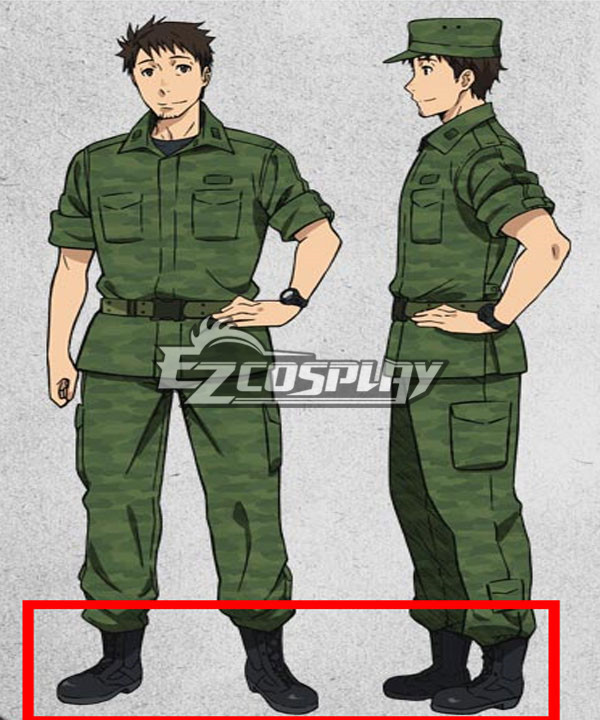 Gate Jieitai Kanochi nite Kaku Tatakaeri Gate Thus the JSDF Fought There Youji Itami Cosplay Shoes