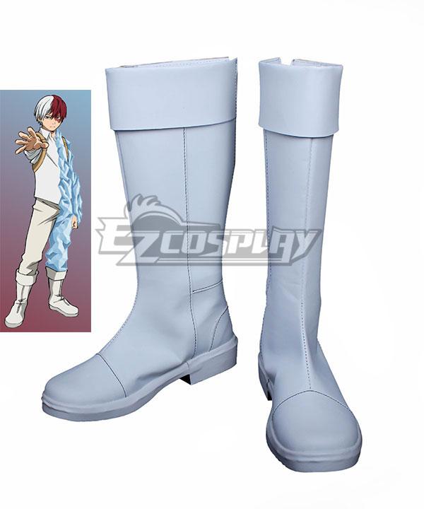 My Hero Academia Boku no Hero Akademia Shoto Todoroki White Shoes Cosplay Boots