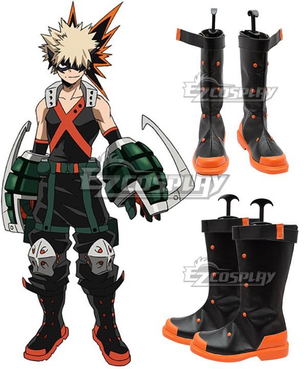 My Hero Academia Boku no Hero Akademia Katsuki Bakugou Shoes Cosplay Boots
