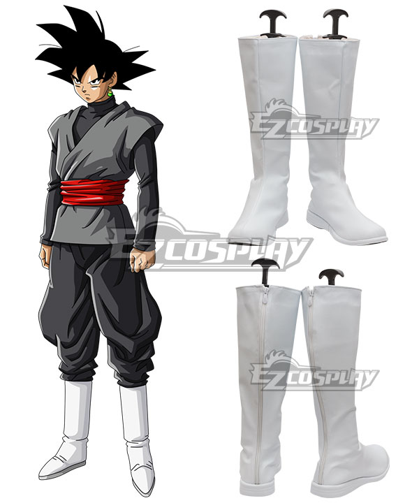 Dragon Ball Super Goku Black White Shoes Cosplay Boots