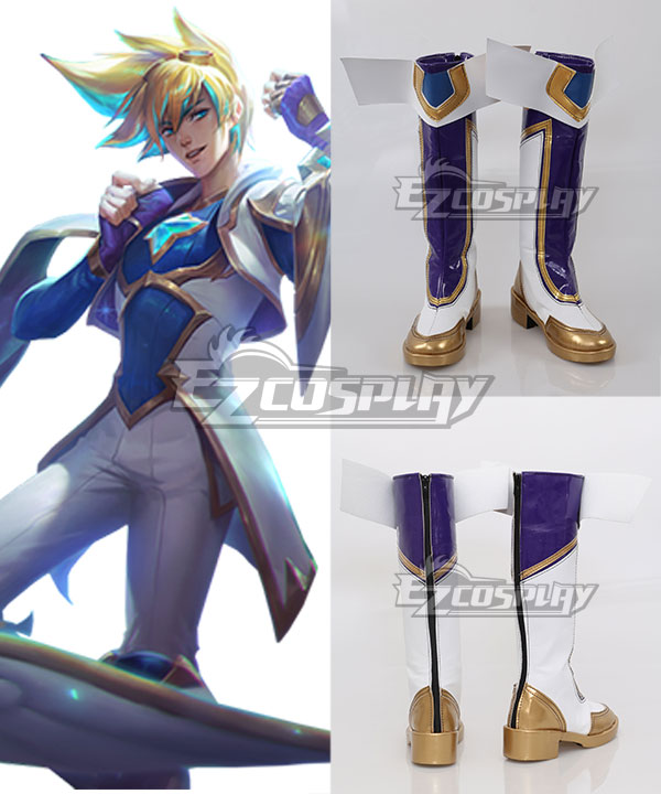 League of Legends LOL Star Guardian Ezreal Purple Shoes Cosplay Boots