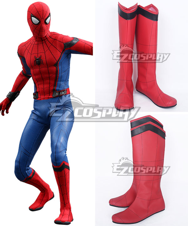 Marvel Spider-Man:Homecoming Spider-man  Spiden Man Superhero Peter Parker Halloween Red Shoes Cosplay Boots