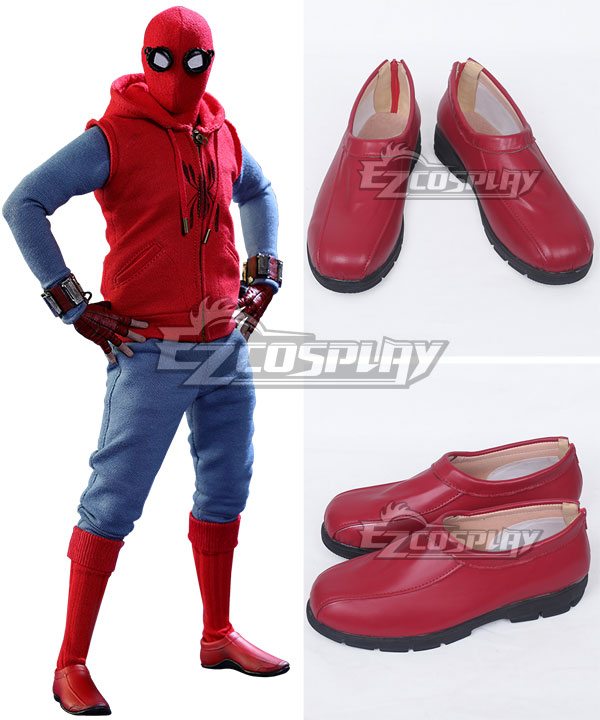 Marvel Spider-Man:Homecoming Spider-man Superhero Peter Parker Halloween Red Cosplay Shoes