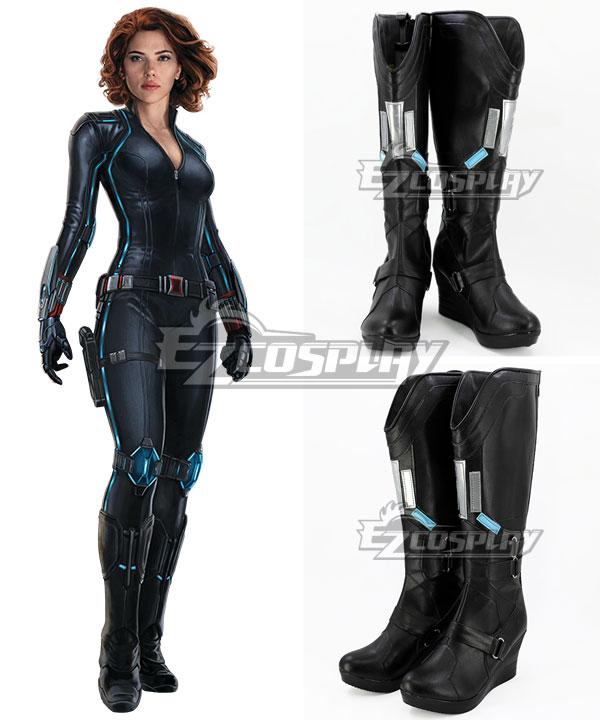 Marvel's The Avengers 2 Age of Ultron Black Widow Natasha Romanoff Black Shoes Cosplay Boots