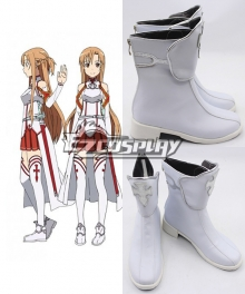 Sword Art Online Asuna White New Version Cosplay Shoes