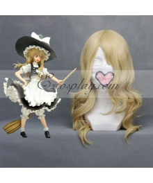 Touhou Project Marisa Light Yellow Cosplay Wig 028B