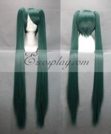 Vocaloid Thousand Cherry Tree Hatsune Miku Dark Green Cosplay Wig 042F