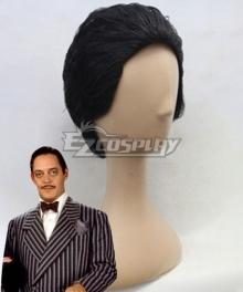 The Addams Family Gomez Addams Halloween Black Cosplay Wig