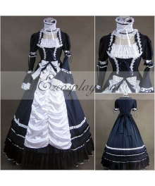 Mazarine Long Sleeve Gothic Lolita Dress-LTFS0010