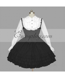 Black-White Gothic Lolita Dress -LTFS0117