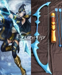 League of Legends Ashe Arrows and Bow Cosplay Weapon