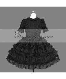 Black Gothic Lolita Dress -LTFS0139