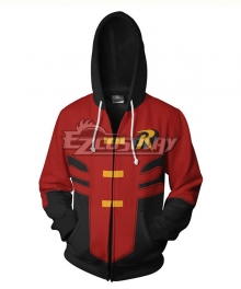 DC Comics Robin Tim Drake Coat Hoodie Cosplay Costume