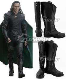 Marvel Thor: Ragnarok Loki Black Shoes Cosplay Boots