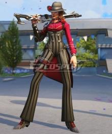 Overwatch OW Elizabeth Caledonia Calamity Ashe Gangster Skin Cosplay Costume