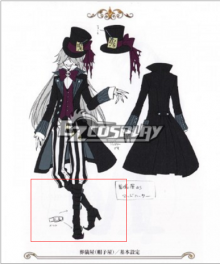 Black Butler Undertaker New Cosplay Boots