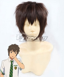 Kimi no Na wa. Kiminonawa Taki Tachibana Brown Cosplay Wig