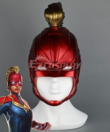 2019 Movie Captain Marvel Carol Danvers Red Helmet Cosplay Accessory Prop