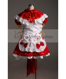 Vocaloid Miku Red Maid Cosplay Costume-Advanced Custom