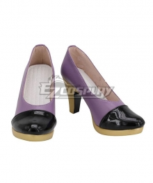 JoJo's Bizarre Adventure Kujo Jotaro Female Purple Cosplay Shoes
