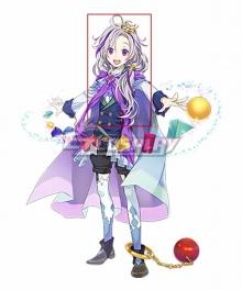 Clock over ORQUESTA Tenma Nanase Neverland Purple Cosplay Wig