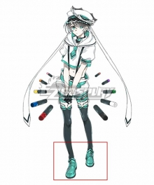 Clock over ORQUESTA Kokokoe Konoe Neverland Green Cosplay Shoes