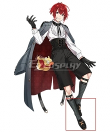 Clock over ORQUESTA Huwa Tokihito Neverland Black Cosplay Shoes