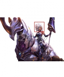 League of Legends LOL Battle Queen Rell White Cosplay Wig