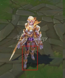 League of Legends LOL Battle Queen Diana Prestige White Shoes Cosplay Boots