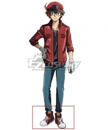 Cells at Work! CODE BLACK Hataraku Saibou BLACK Red Blood Cell Red Cosplay Shoes